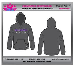 Ellington Lacrosse Heavyweight Charcoal Hoodie