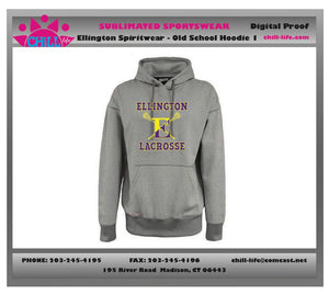 Ellington Lacrosse Old School Cotton Hoodie