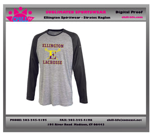 ELLINGTON LACROSSE LONG SLEEVE RAGLAN TEE