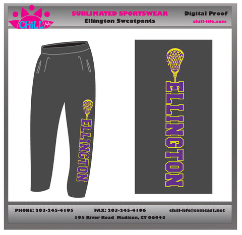 Ellington Lacrosse Open Bottom Sweatpants