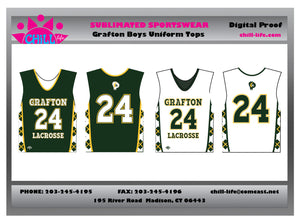 Grafton Boys Reversible Uniform Top- SEPARATES