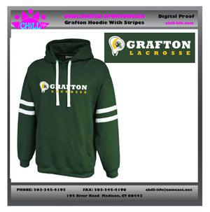 Grafton Lacrosse Twin Striped Hoodie