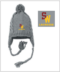 South Windsor Custom Embroidered Cabled Beanie with Pom