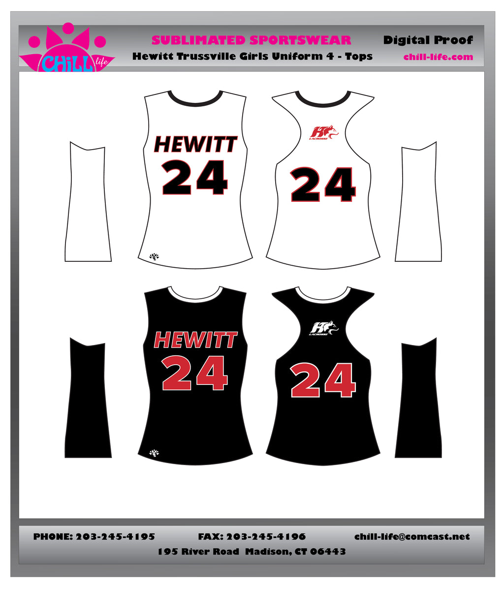 HEWITT GIRLS LACROSSE GAME REVERSIBLE