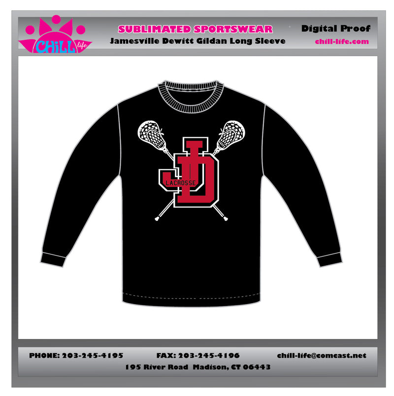 Jamesville Dewitt Lacrosse Long Sleeve Cotton Tee