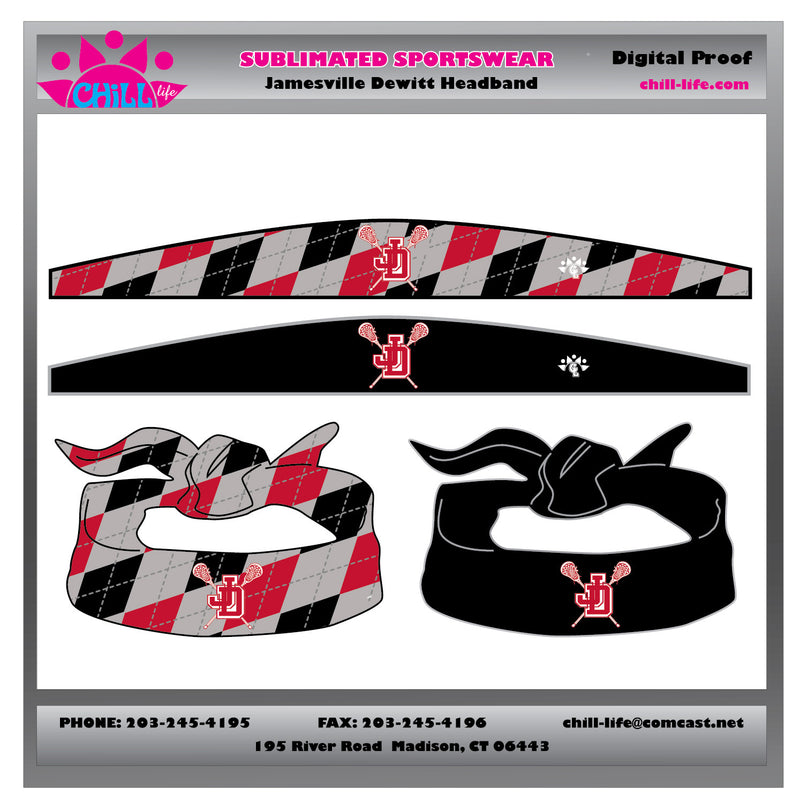 Jamesville Dewitt Sublimated reversible tie bandana