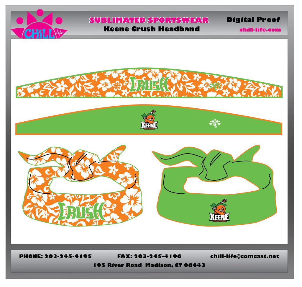 OPEN ENDED Keene Crush Reversible Sublimated Tie Headband/Bandana