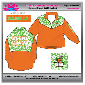 Keene Crush 1/4 Zip Sublimated Lacrosse Jacket
