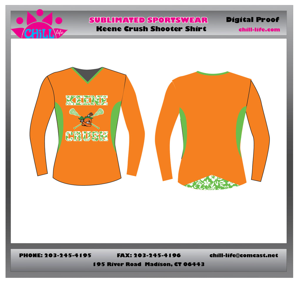 Keene Crush Ladies Sublimated Shooter Shirt