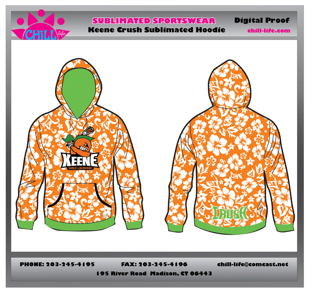 Keene Crush Custom Sublimated Hoodie