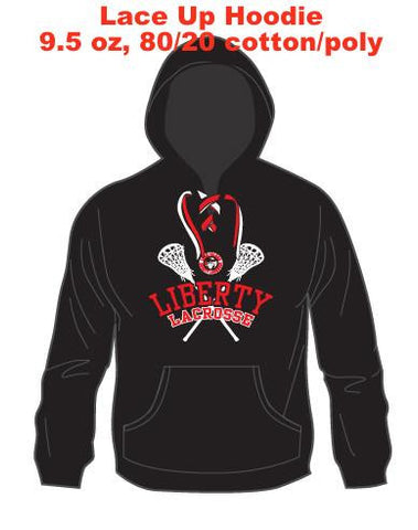 Lace Up Cotton/Poly uni-sex Hoodie
