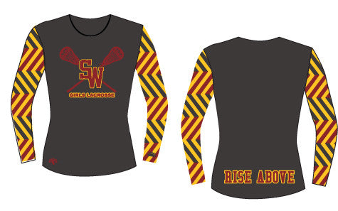 South Windsor Long Sleeve Sublimated Shooter Shirt-Women's Cut