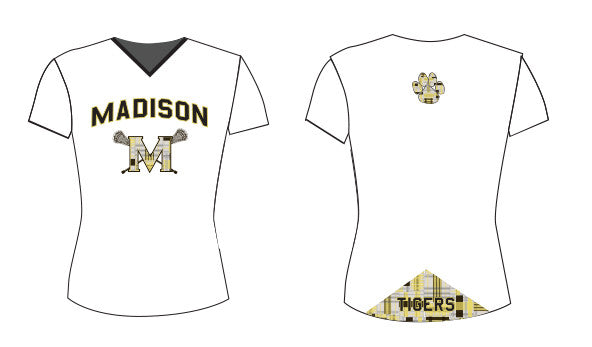 Madison Girls/Ladies Custom Sublimated Short Sleeve Shooter Shirt