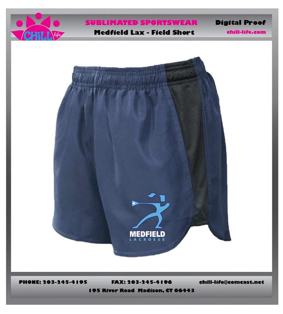 Medfield Girls Lacrosse Field Shorts