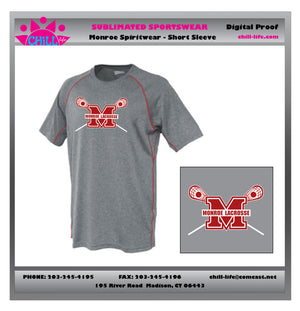 Monroe Lacrosse Short Sleeve Performance Tee