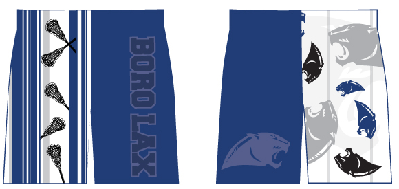 Springboro Custom Sublimated Lacrosse Shorts