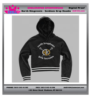 North Kingstown Ladies Stadium Cropped Hoodie-womens sizing