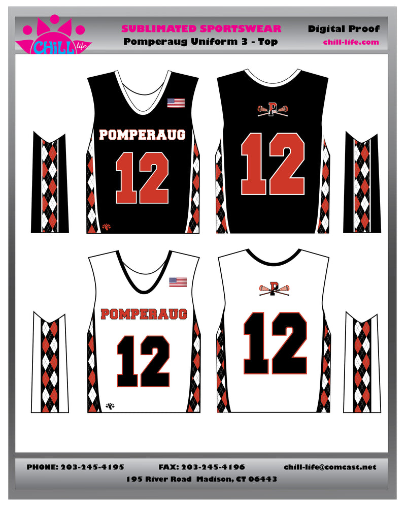 Pomperaug Boys Uniform Reversible Top