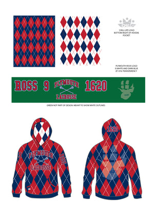 Plymouth Rock Lacrosse Sublimated Hoodie