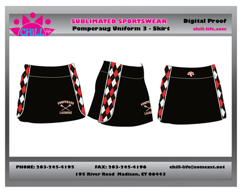 Pomperaug Girls Uniform Skirt