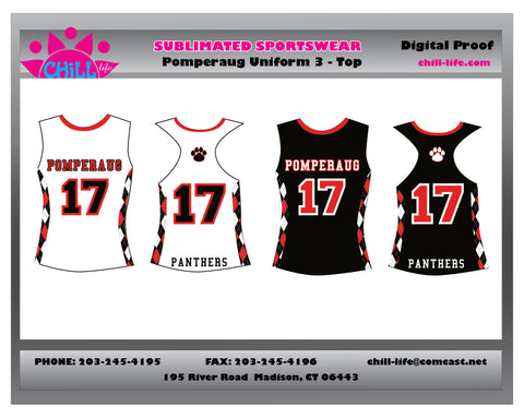 Pomperaug Girls Lacrosse Uniform Top-