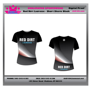 Red Dirt Lacrosse Short Sleeve Shooter-sublimated (primary BLACK)