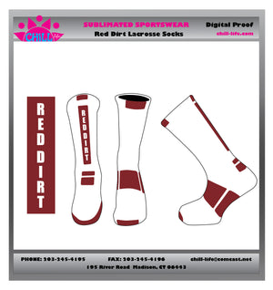 Red Dirt Lacrosse Crew Length Socks