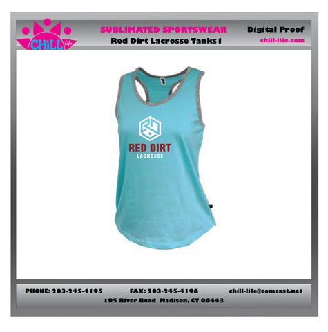 Red Dirt Lacrosse Racerback Tank Top
