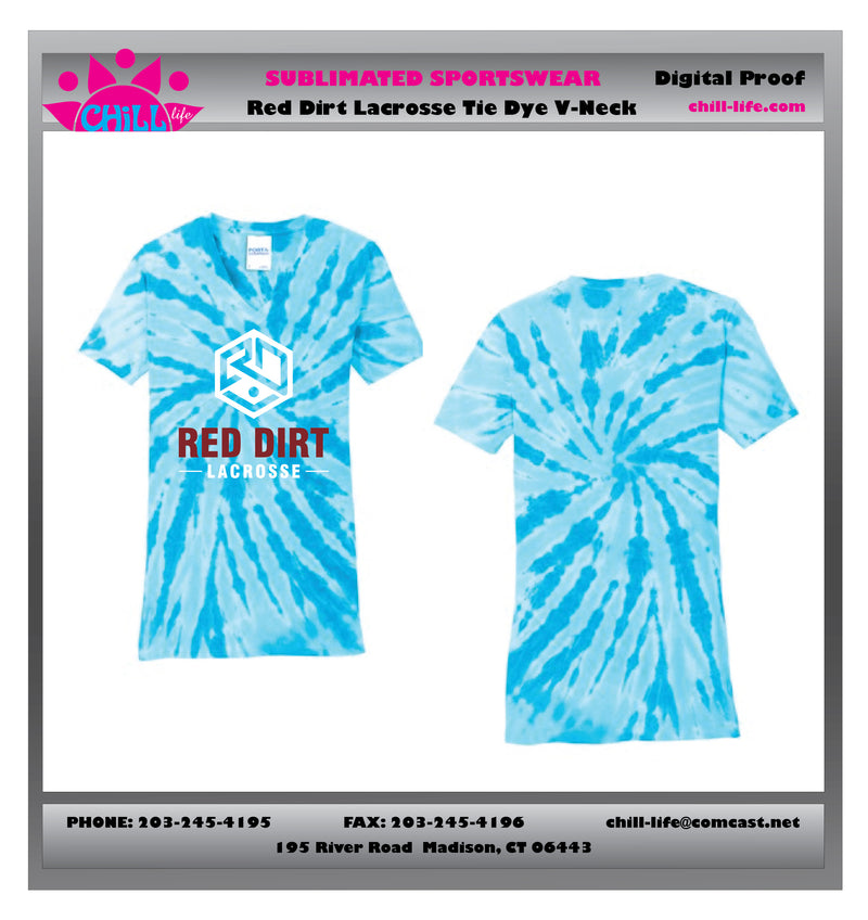Red Dirt Lacrosse Tie Dye Tee