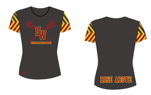 South Windsor Short Sleeve Sublimated Shooter Shirt-Women's Cut