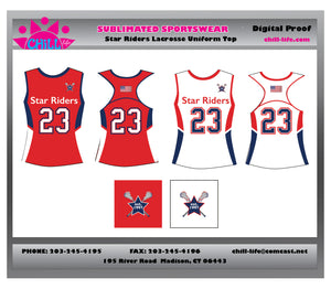 Star Riders Racerback reversible uniform top