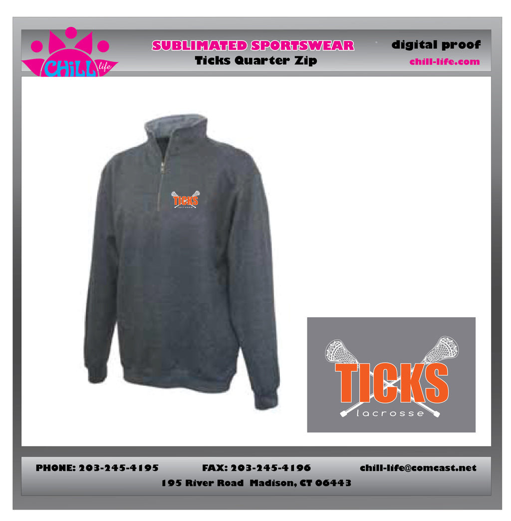 Ticks Lacrosse 1/4 zip