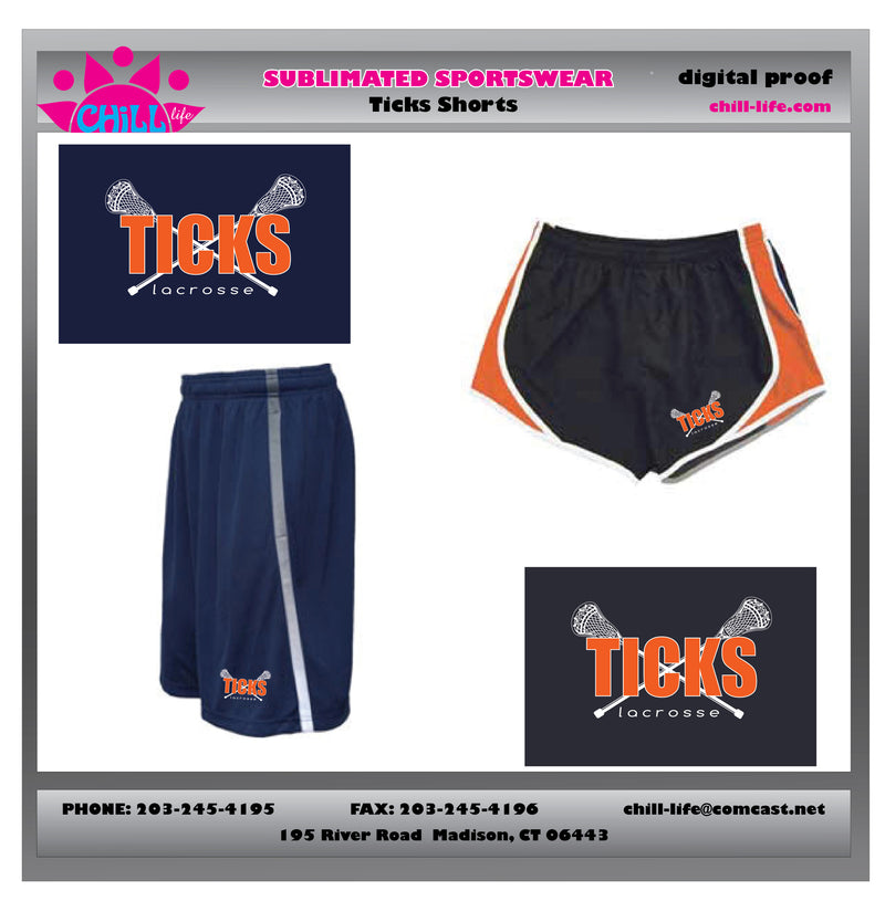 Ticks Lacrosse Shorts