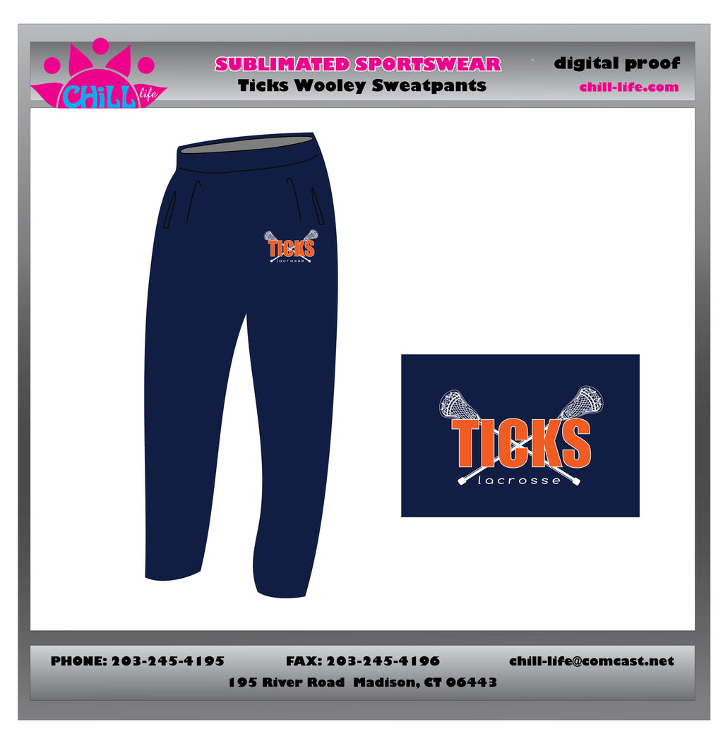 Ticks Lacrosse Open Bottom Sweatpants