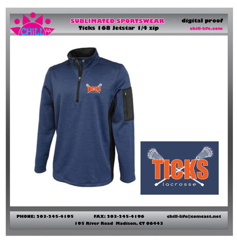 Ticks Lacrosse Jetstar 1/4 zip Jacket
