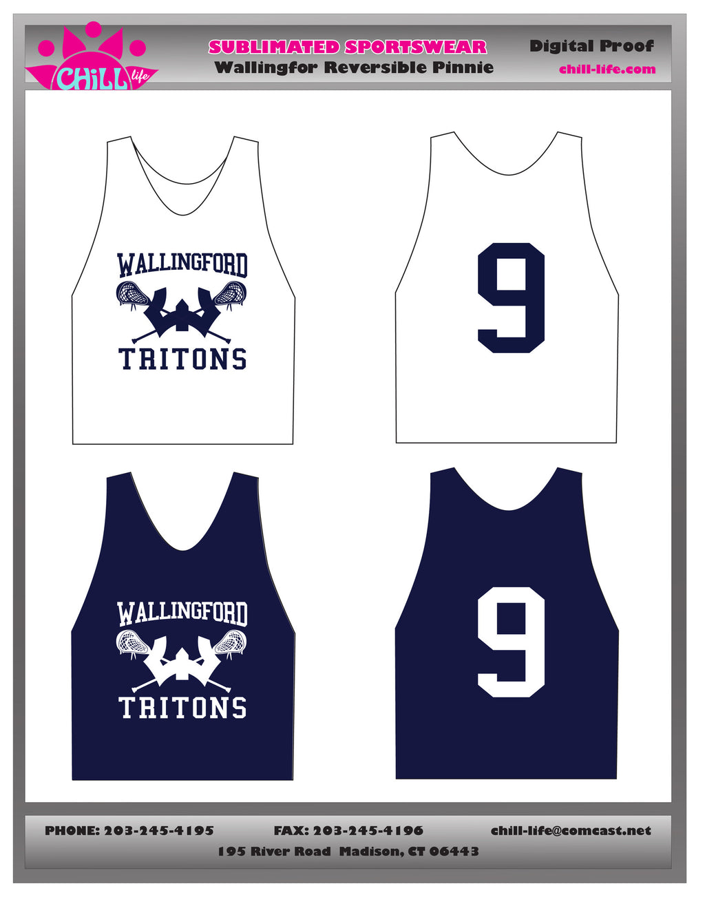 Wallingford Practice Pinnie