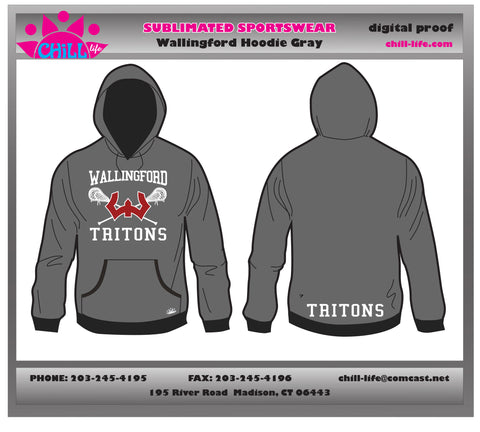 Athletic Gray Wallingford Lacrosse Hoodie