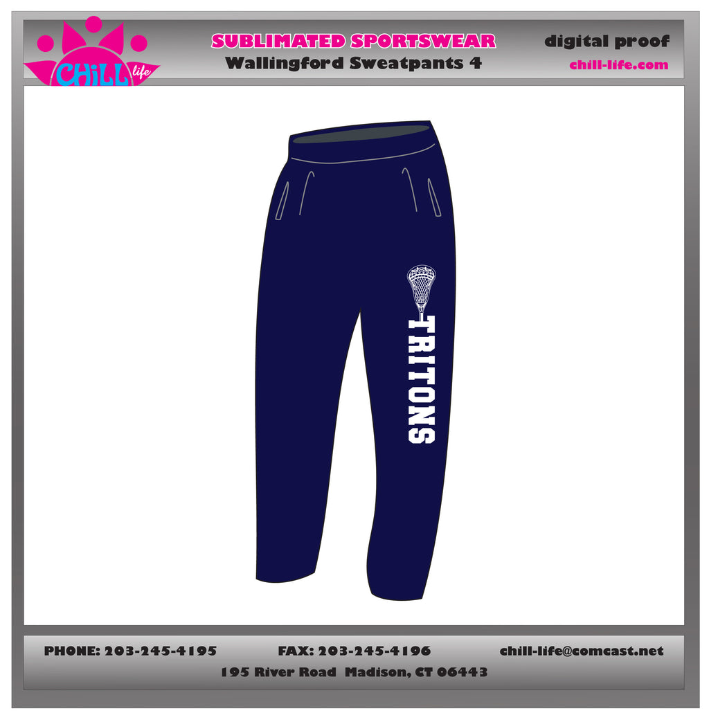 Navy Wallingford Lacrosse Sweatpants