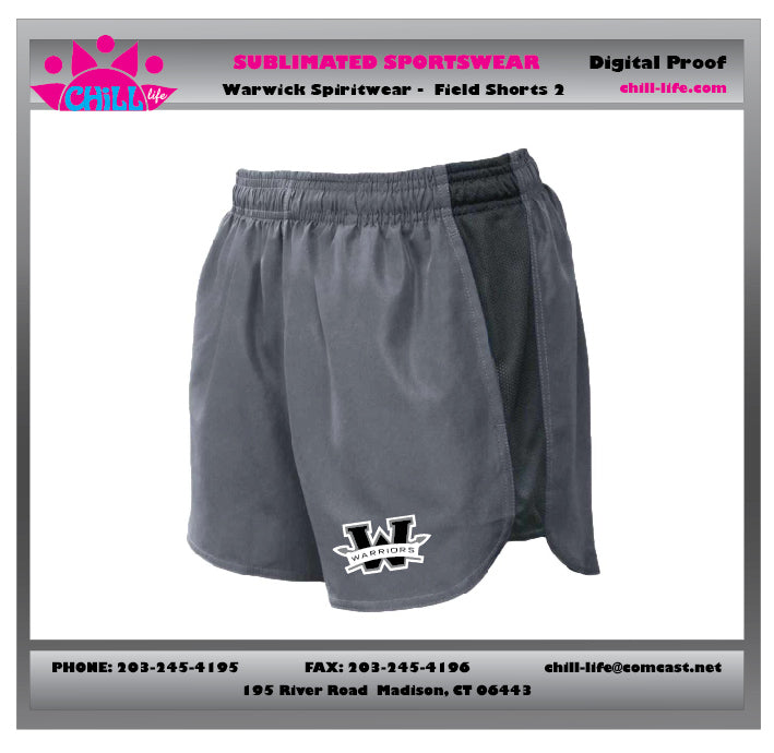 Warwick Warriors Youth Basketball Girls Shorts