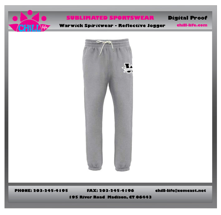 Warwick Warriors Basketball Joggers-gray WITH W LOGO