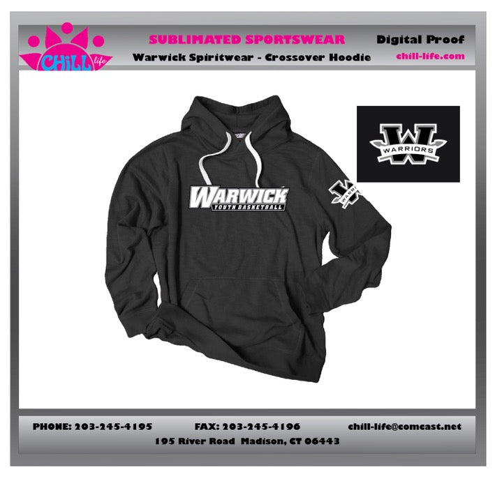 Warwick Warriors  Basketball Heavyweight Cotton Hoodie
