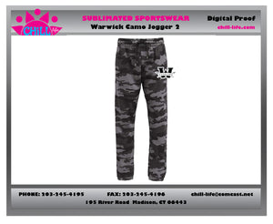 Warwick Youth Basketball Camouflage Sweatpants