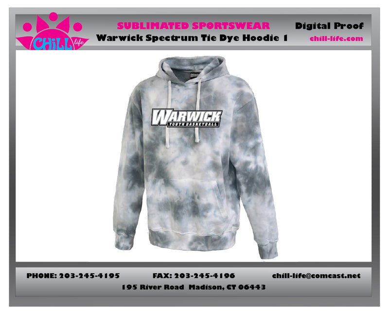 Warwick Youth Basketball Spectrum Tie Dye Hoodie