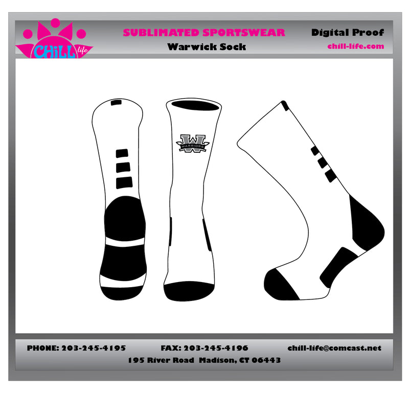 Warwick Basketball Socks