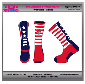 Warwick Lacrosse Custom Crew Length Socks