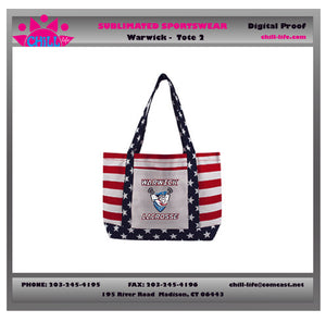 Warwick Lacrosse Stars and Stripes Liberty Tote Bag