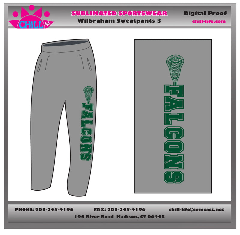 Falcons Lacrosse Heavy Weight Sweatpants