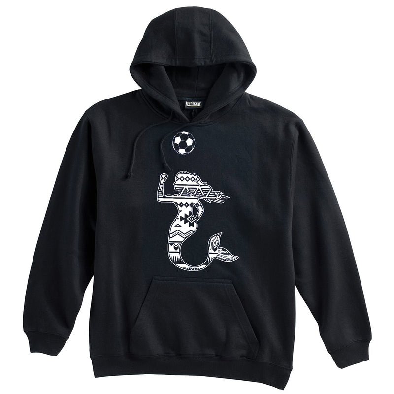 Mermaid with Soccer Ball Soccer Heavy Weight Cotton Hoodie