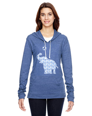 Elephant with Soccer Ball Soccer Eco Jersey Pullover Hoodie Animal Sports Collection