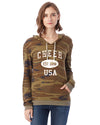 Cheerleading Eco Jersey Pullover Hoodie-Vintage Distressed Established Date USA